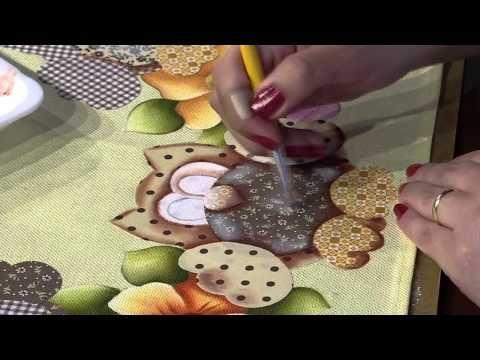 Mulher.com 19/01/2015 Pintura em tecido barrado corujas por Eliana Rolin Parte 2 - YouTube
