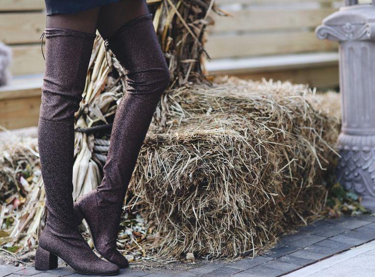 Wearing:Reformation Dress (Similar) | Topshop Turtleneck| H&M Thigh High Boots|Loewe Sunnies Shop the post below: