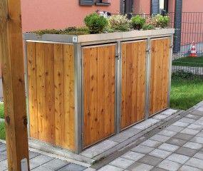 Mülltonnenbox Lärche II 3x 120 / 240 Liter
