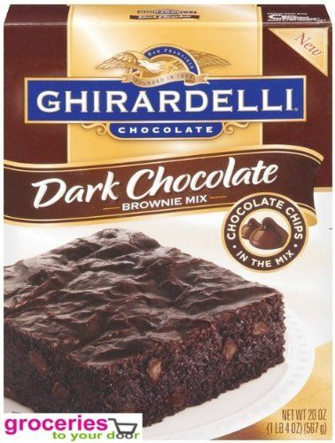 Ghirardelli Chocolate Brownie Mix Dark Chocolate 20 oz Pack of 6 >>> Click image to review more details.