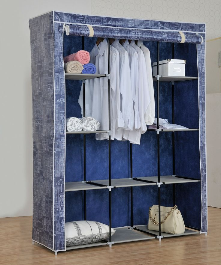 Blue Portable Wardrobe Closet By Above Edge # Part 87