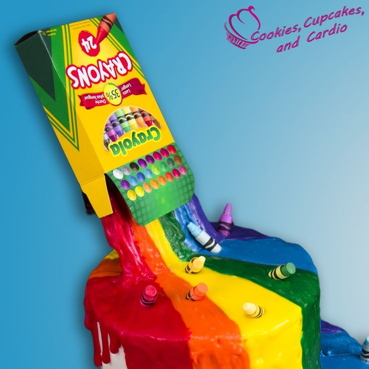 How to make a Crayon Waterfall Cake (Back to School) w/ Edible Crayons