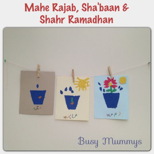 Punch out analogy of the three auspicious months Mahe Rajab, Shabaan and  Shahr Ramadhan