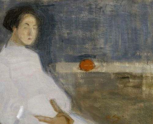 Helene Schjerfbeck  Seated Woman in White Dress  1908-09