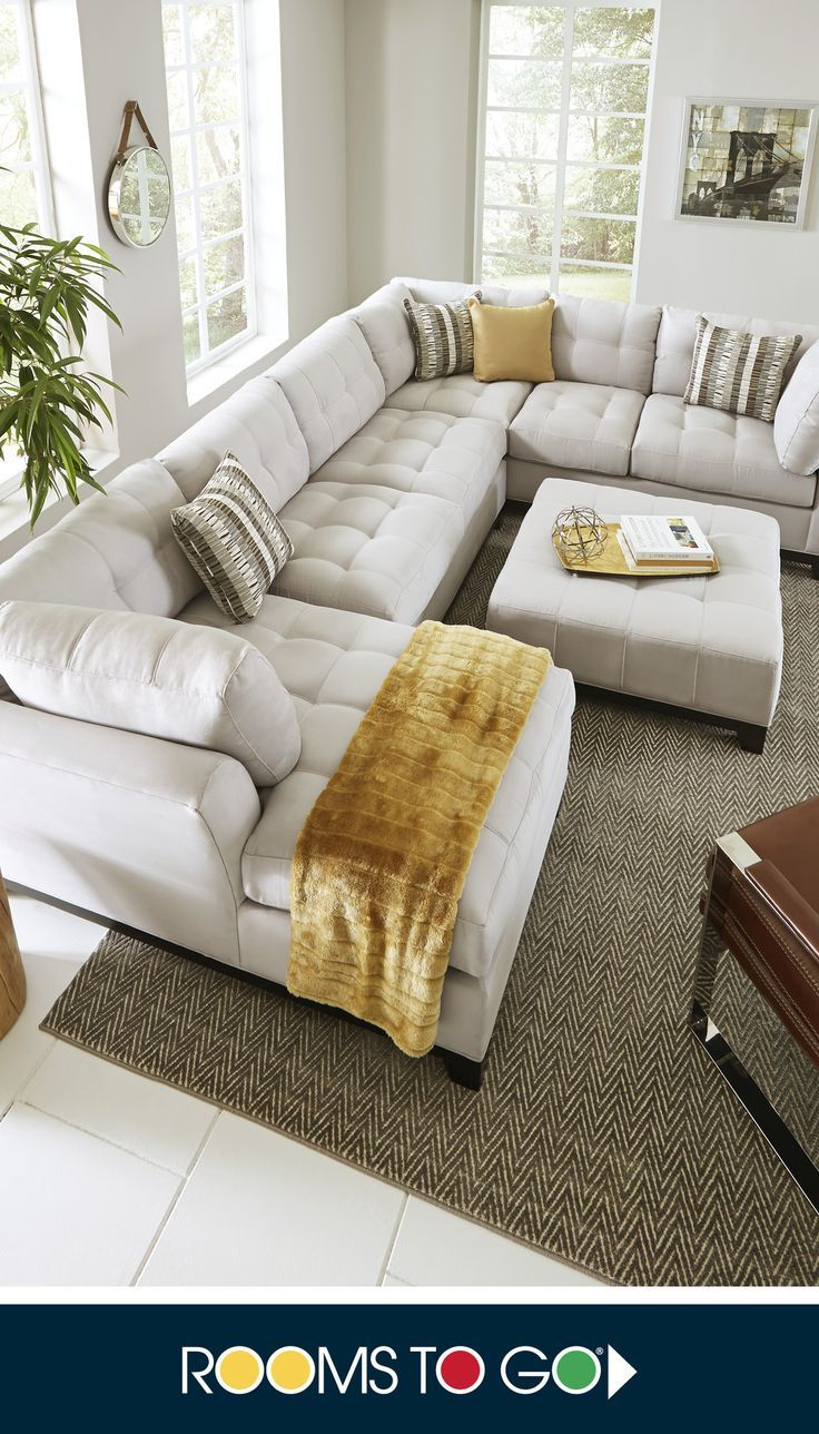 Give the room a contemporary spin and separate the sectional's sofa from the chaise and armless loveseat for fresh seating options.