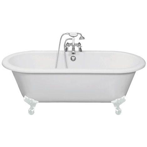 Cambridge bath with traditional resin feet