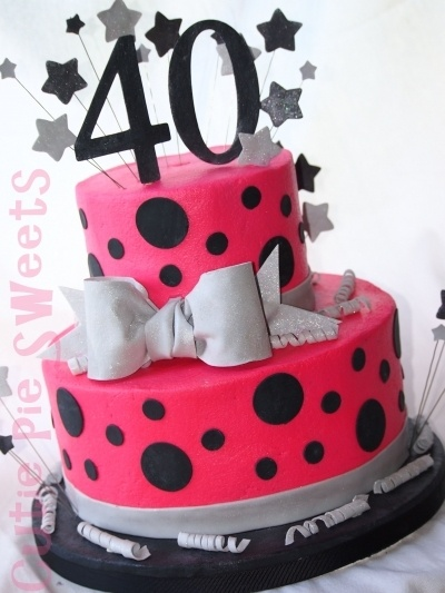 38 best 40th birthday images on pinterest anniversary for 40th birthday cake decoration
