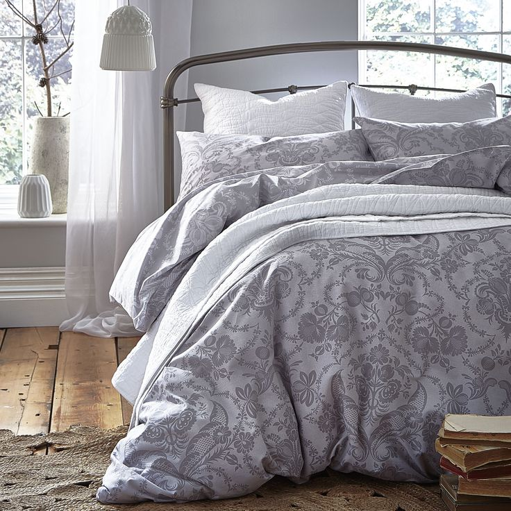 Bianca Gainsborough Double Duvet Cover Set, Grey
