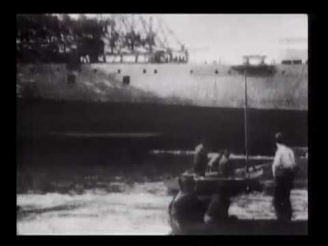 "Launch of Japanese man-of-war ""Chitosa"" [i.e., ""Chitose""]"