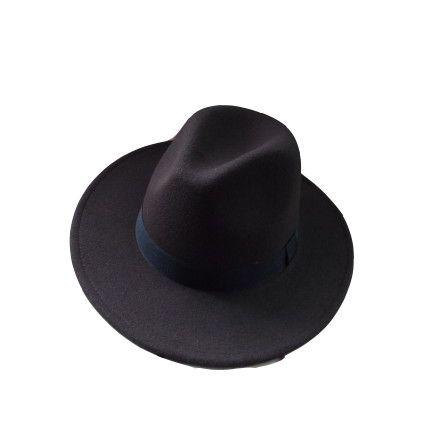 Brand Fashion Fedora Hat for Woman Men Woolen Cap Design Black Rivet Chain Belt Femme Cashmere Fedora Hat Women