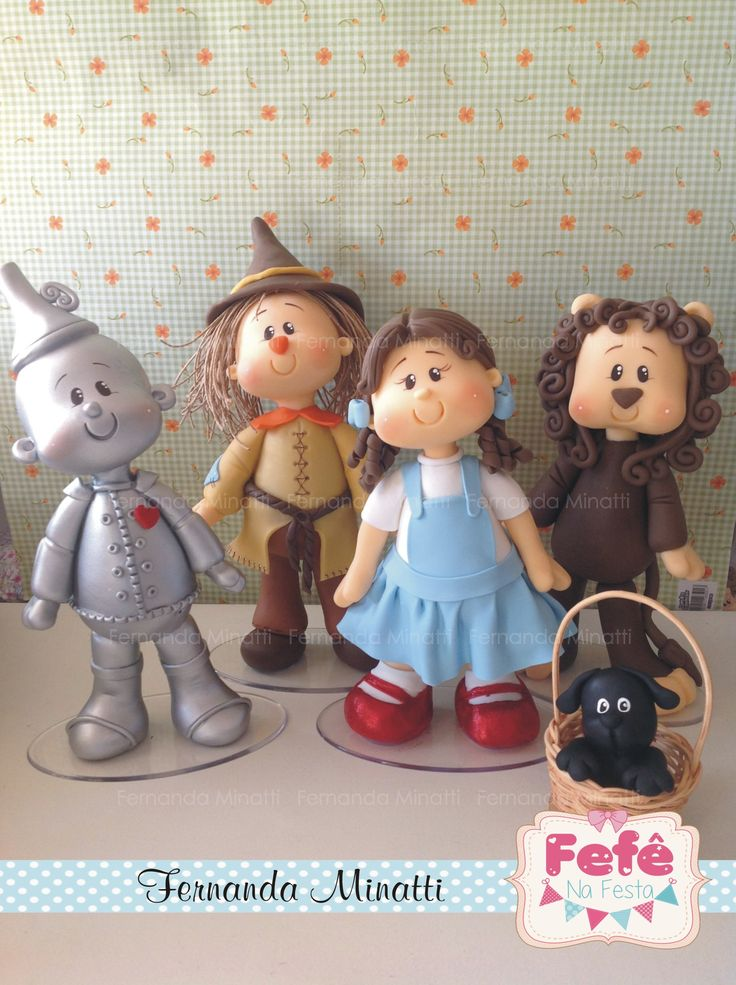 Mágico de Oz... Wizard of oz by Fernanda Minatti porcelana fria masa flexible pasta francesa figurine topper modelado modelling fondant polymer clay fimo
