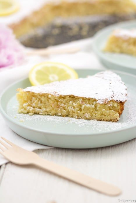 Mandeltörtchen-Zitronen-Mandel-Kuchen ohne spanisches Mehlrezept   – Backen