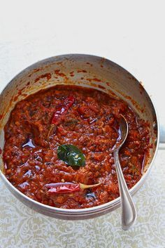 Tomato Chutney 1 tablespoon coriander seeds 1 teaspoon cumin seeds ½ teaspoon black peppercorns 3 tablespoons oil (I used olive oil) 2 teaspoons black mustard seeds 1 spring curry leaves, torn 2 dried red chili, broken into half 1 tablespoon minced garlic 1 small red onion, minced ½ teaspoon paprika 1 ½ cups chopped tomatoes 2 tablespoons tomato paste 2 tablespoons white vinegar ½ cup water salt, to taste