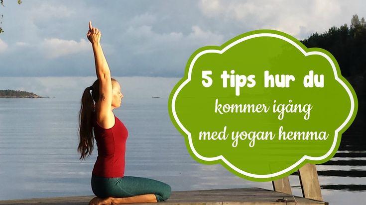 Fem tips hur du kommer igång med din yogaträning hemma. Och - får en regelbunden träning som du älskar.    #mediyoga #medicinskyoga #kundaliniyoga #yoga #meditation #avslappning #yogahemma #onlineyoga