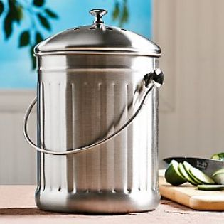 Donu0027t Discard Your Kitchen Scraps, Instead Keep This Stainless Steel Compost  Pail Handy On Your Kitchen Counter And You Can Put Those Things And More To  ...