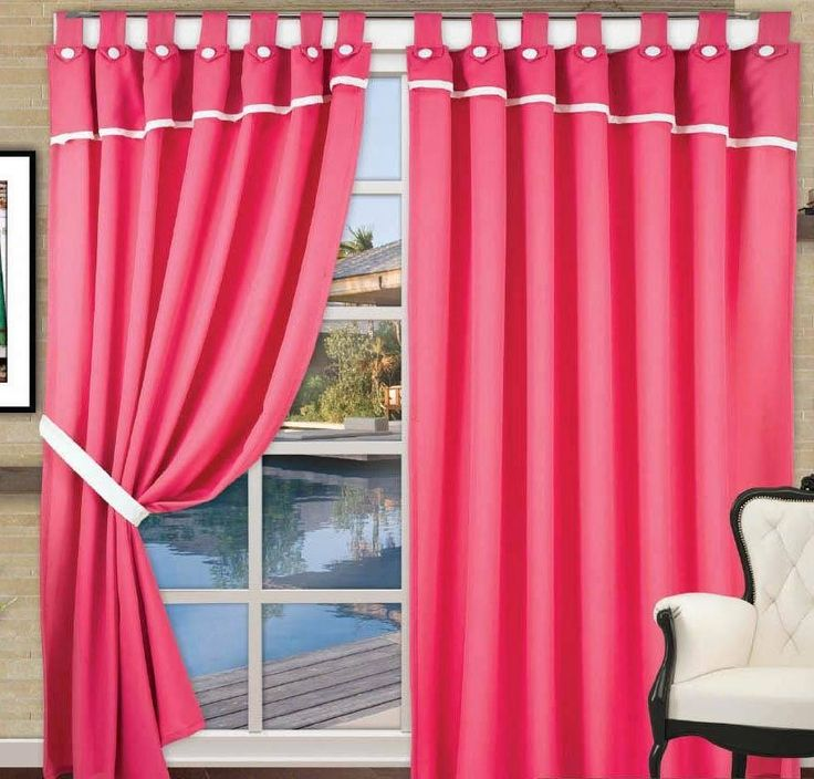 Cortinas de tela con presillas 2 pa os cientos de for Color de cortina con pared blanca