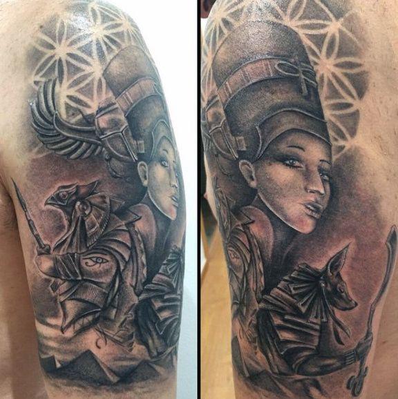 Male Egyptian Tattoos Sleeves