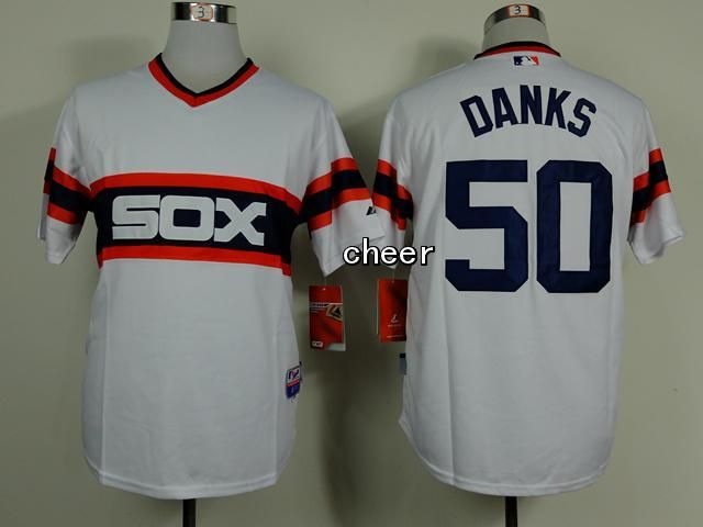 Men's MLB Chicago White Sox #50 Danks White Jersey