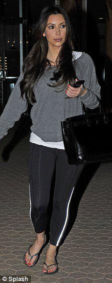 Kim Kardashian wearing Lululemon Back On Track Crop. Kim Kardashian Gym in Studio City February 15 2012.