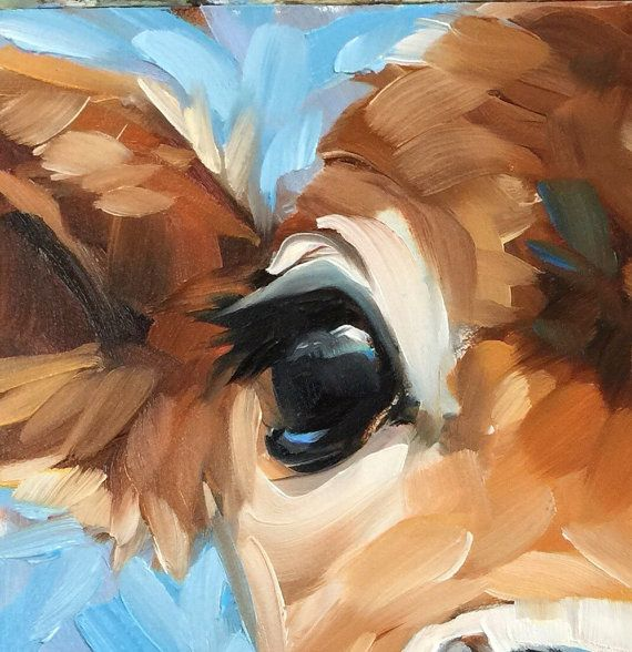 Bright Eyes Cow painting, 6x6 inch original impressionistic oil painting of a sweet cow.  Professional fine art board is 1/8 thick. These small paintings can be displayed on an decorative tabletop easel or easily and inexpensively framed using a standard photo frame minus the glass or with a matte. Artwork is photographed and the image is adjusted to match the original painting as close as possible. International Shipping to select countries is available. Contact me and I will provide you…