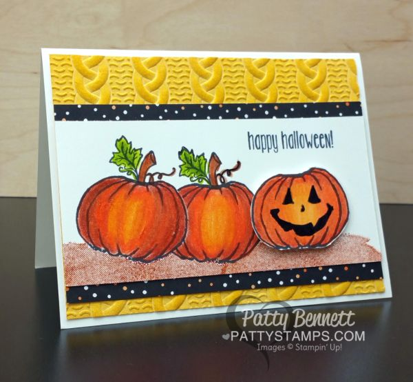 You may be thinking... WHAT blast from the past? This Stampin' Up! Jar of Haunts pumpkin is BRAND NEW!? Well, yes, you are right... but I got out my Prismacolor Pencils from my 1979 college art cl