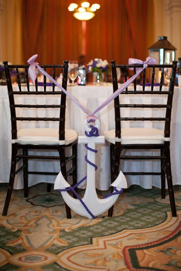 wooden wedding anchor #chair #decor