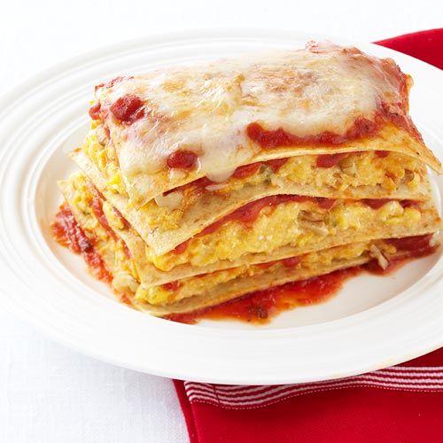 Butternut Squash Lasagna with Caramelized Onions & Walnuts