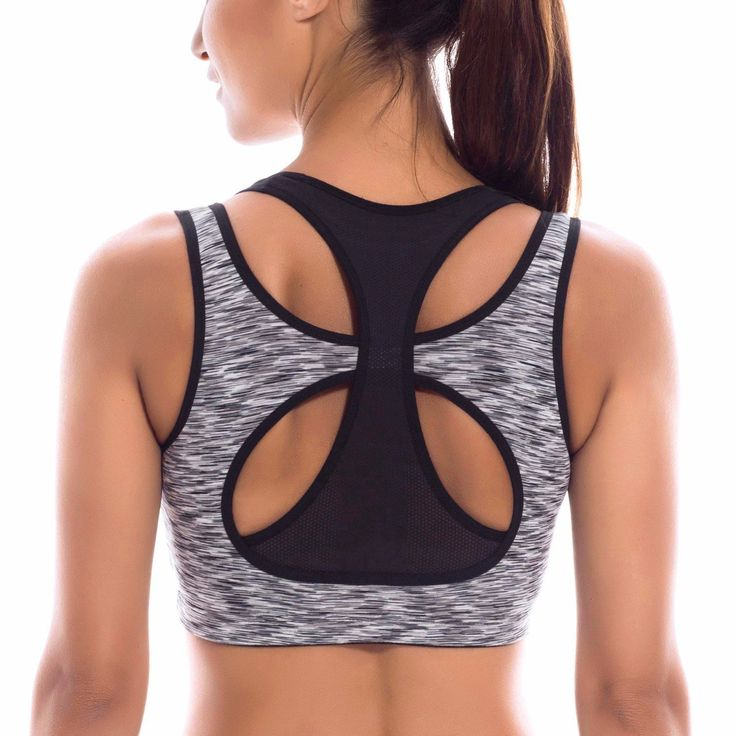 La Isla Women's High Impact Double Layer Wirefree Power Racerback Sports Bra Top at Amazon Women's Clothing store:
