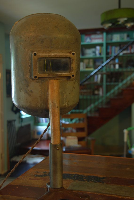 Vintage industriel lampe masque de soudure