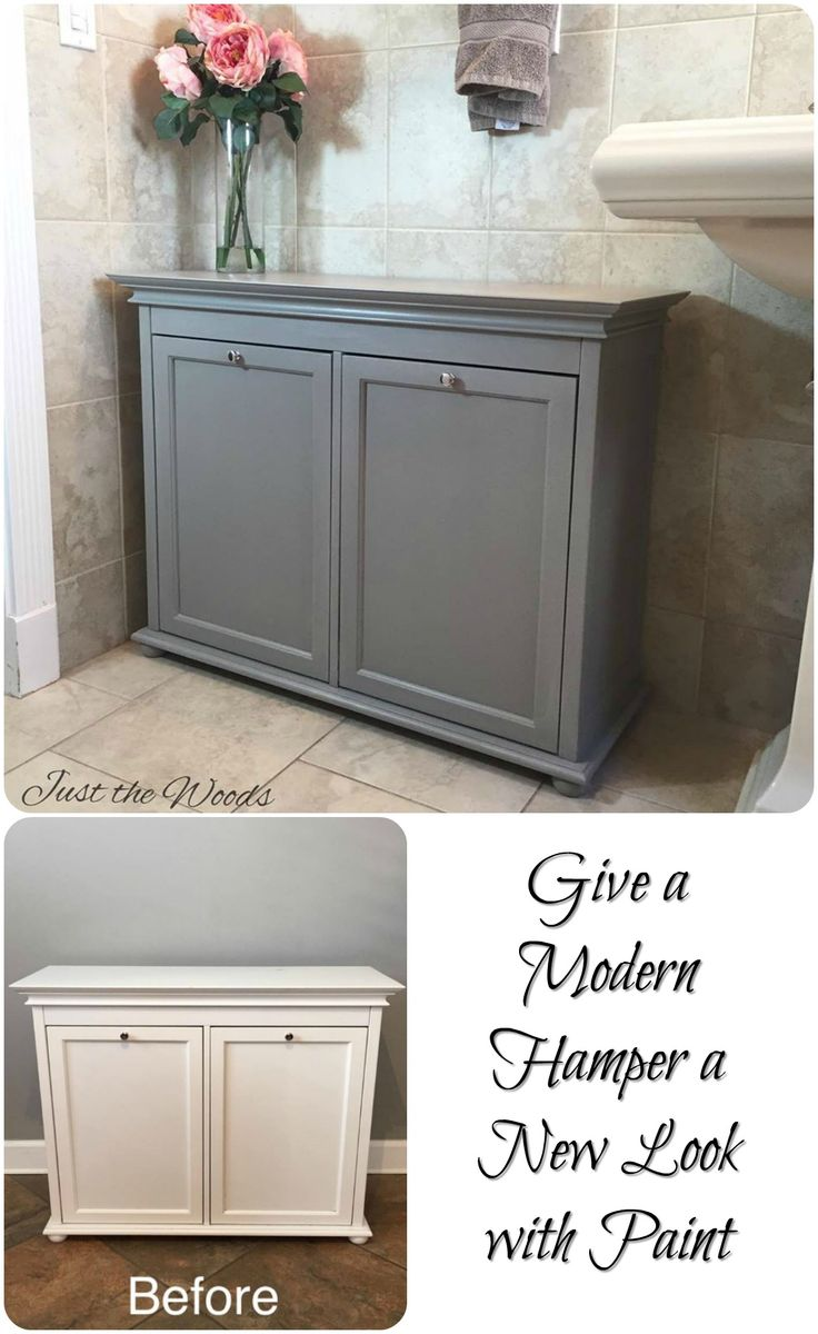 GIve a Modern Hamper a New Look with Paint