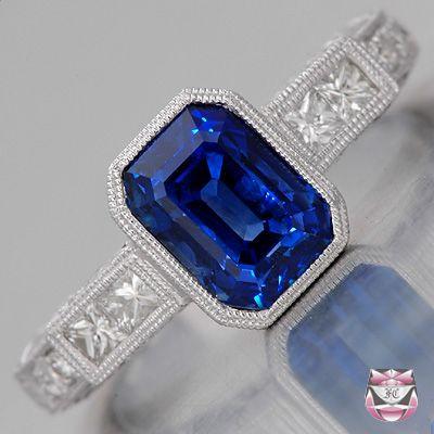 Saphire: Sapphire Engagement Rings, Antique Engagement Rings, Rings Diamonds, Deco Sapphire, Deco Engagement Ring, Art Deco, Jewelry Rings
