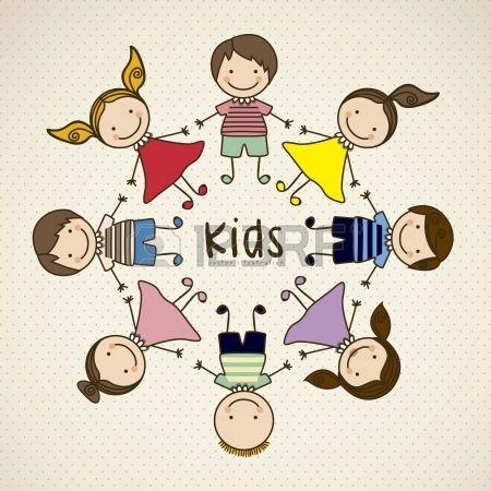 Illustrazione di icone per bambini, gruppi di bambini, illustrazione vettoriale photo