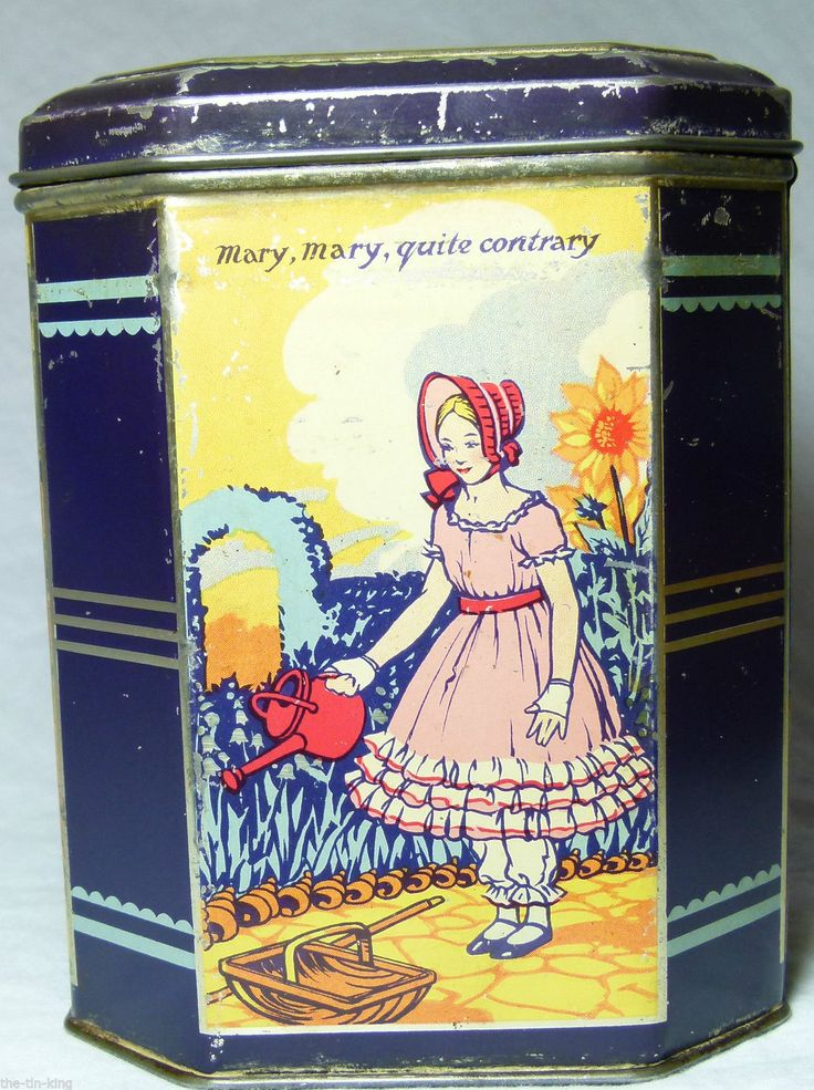 RARE ANTIQUE VINTAGE CHILTONIAN FANCY CADDY BISCUITS TIN NURSERY RHYMES BO PEEP in Collectables, Advertising, Food | eBay