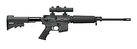 "Bushmaster M4 Type Carbine SA 223 Rem 16"" 10+1 Adj Telestock Black"