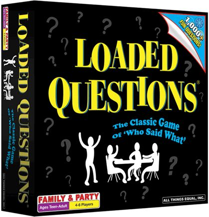 Loaded Questions has been on my Christmas/birthday list for the last four years. I am still waiting.