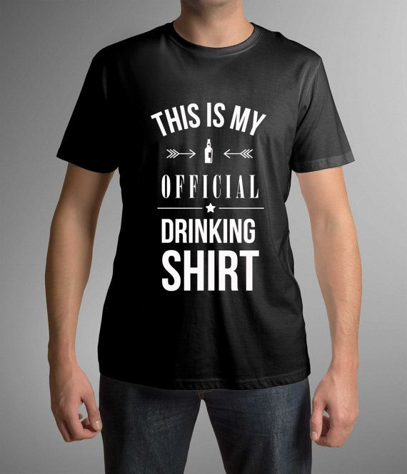 Party t-shirt,This is my official drinking shirt, Mens clothing, Cool shirt, Gift Idea for him, Groomsmen gift