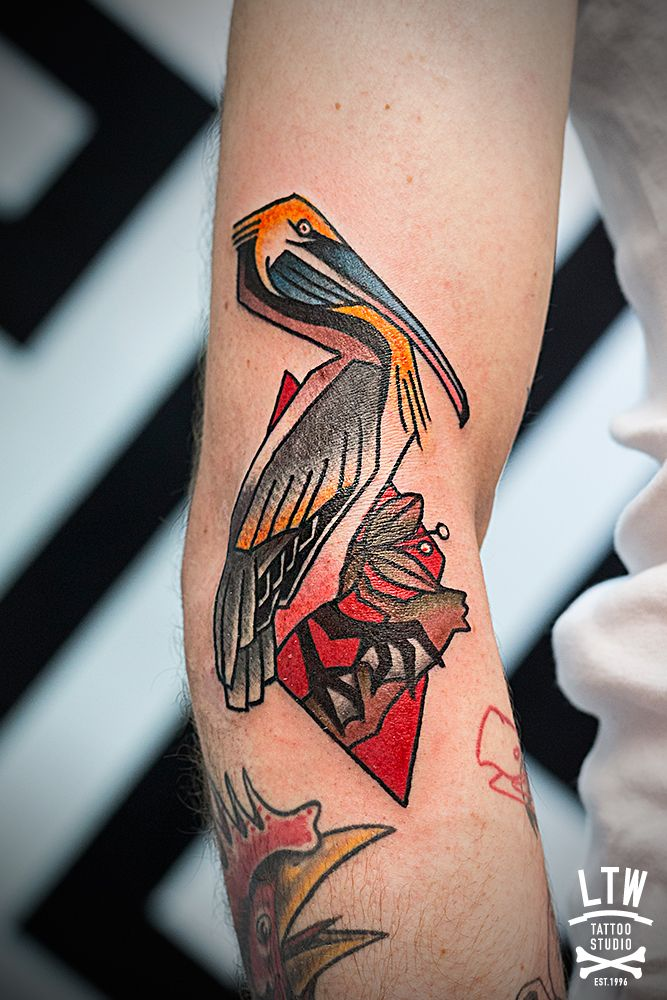 Pelican by Rodrigo DC. LTW Tattoo Studio.