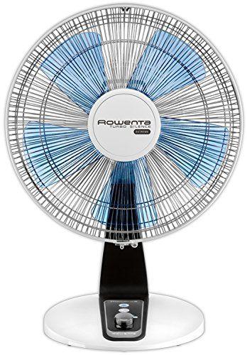 Rowenta VU2640F0 Turbo Silence 1 Ventilateur de table: Puissant: grâce aux 5 pales aérodynamiques, ce ventilateur vous procurera une…