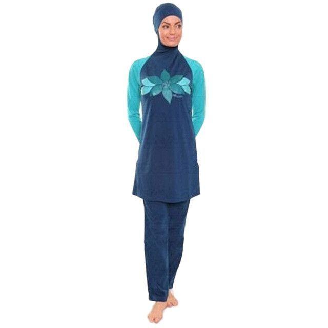 YONGSEN Muslim Swimwear Islamic Women Modest Hijab Plus Size Muslim Swim Wear Swimming Bathing Suit Beach Full Coverage Swimsuit