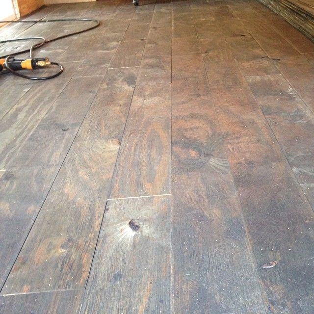 602 best diy flooring images on pinterest flooring floors and floor plywood plank floor people pictures dont do it justice solutioingenieria Choice Image