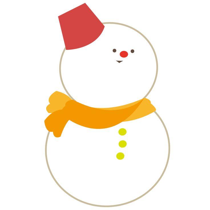 赤い鼻の雪だるま 雪だるま イラスト 無料 イラスト 素材 無料 イラスト