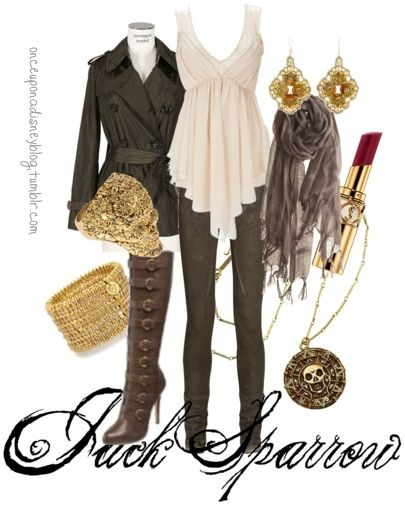 "Outfit inspired by (Captain) Jack Sparrow from ""Pirates of the Caribbean""."