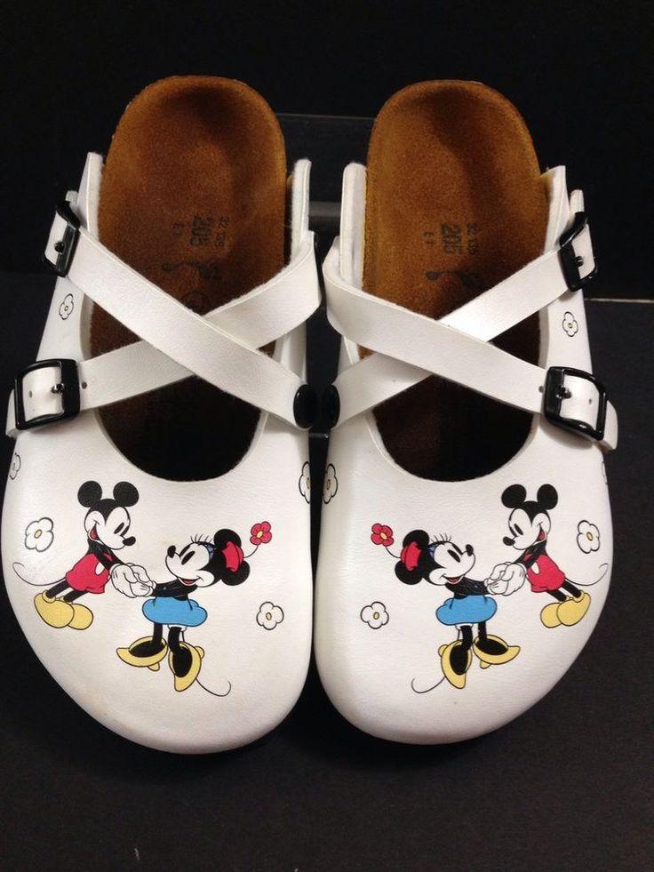 RARE! Birki's By Birkenstock Dorian Clogs Mickey Mouse And Minnie Disney 32 L1 #Birkenstock #Clogs