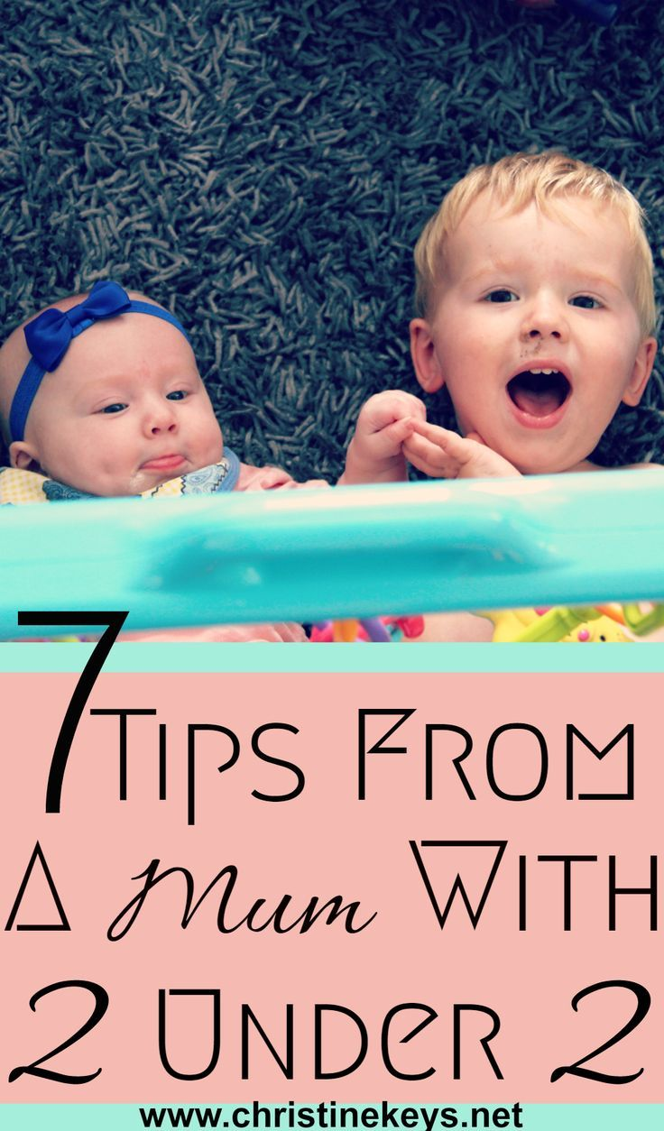 How to survive and thrive with two under two. Tips and tricks for making life easier.