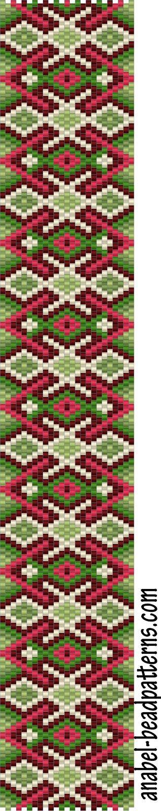 The scheme bracelet Spring Patterns - Free peyote bracelet pattern