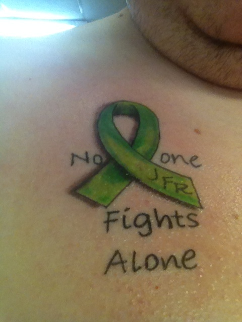 Tattoo for my brother who has Non-Hodgkins Lymphoma Cancer.