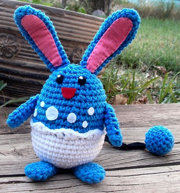 I made this doll right now for several reasons.  First off,  it's coming up to Easter,  and what more perfect of a pokemon for the Easter B...