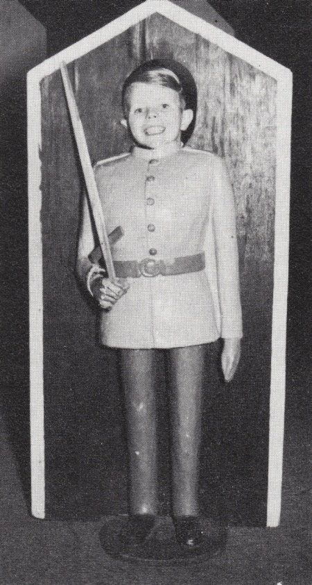 David Bowie as a child. If they thought he'd become a Guardsman, they were in for a surprise.