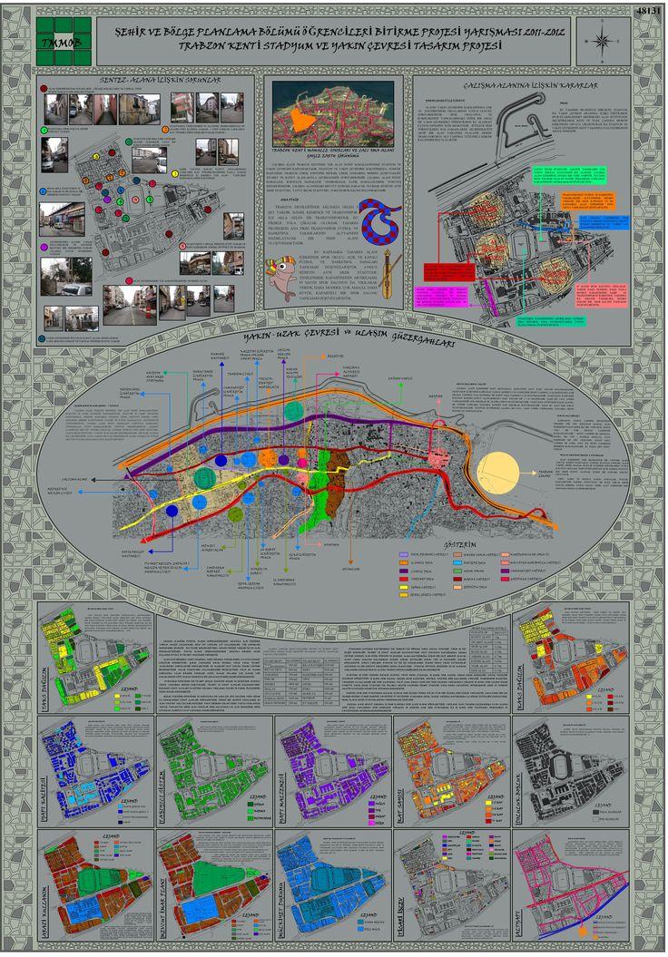 Şehir ve Bölge Planlama Bölümü Öğrencileri Bitirme Projesi Yarışması 2011- 2012  1 Nolu Pafta