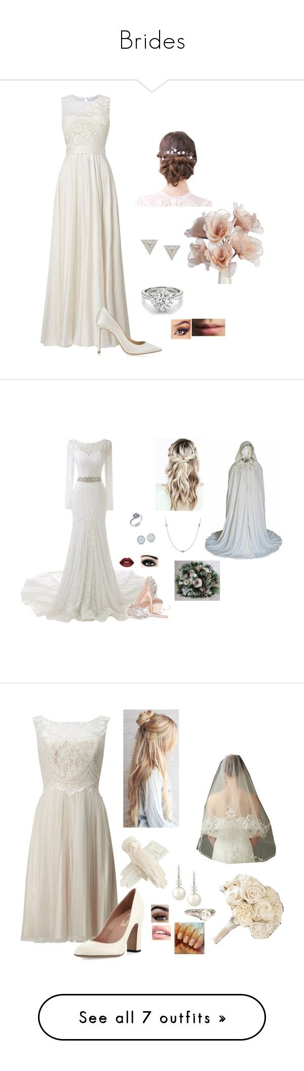"""""""Brides"""" by terra-wendy ❤ liked on Polyvore featuring Phase Eight, Jimmy Choo, Burberry, Lizzie Mandler, Lime Crime, Max Factor, Elsa Peretti, Valentino, Sola and Belpearl"""